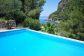 Villa con acceso directo a la playa y al mar de Cala Tuent